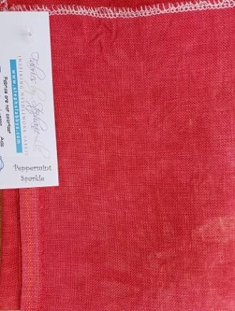 Fabrics by Stephanie Peppermint Sparkle 28ct