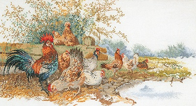 Thea Gouverneur GOK2038 Chickens in the field
