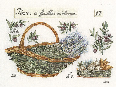 Thea Gouverneur GOK2098 Basket of lavender