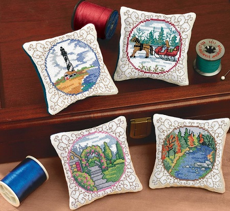 Janlynn 21-1744 Four seasons pincushions