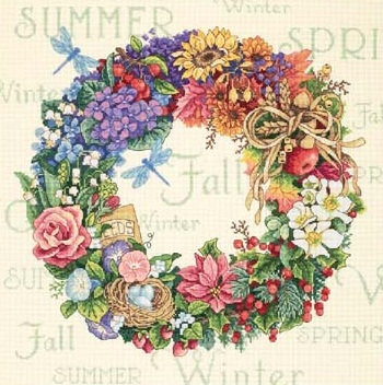 Dimensions 35040 Wreath of all seasons