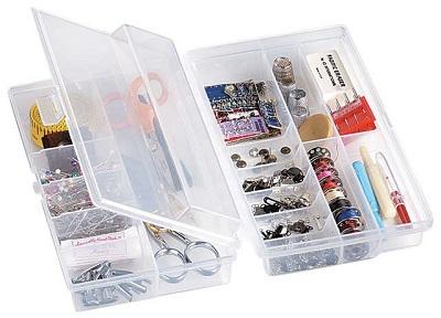 Organizer Art Bin Translucent Art Bin Quick Flip Storage Box