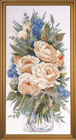 Design Works 2775 White roses