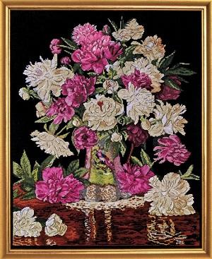 Design Works 2800 Peonies in Vase
