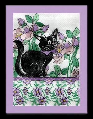 Design Works 2805 Lilac floral cat