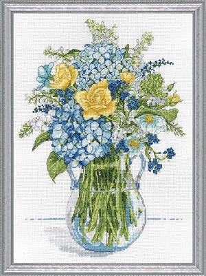 Design Works 2866 Blue and yellow floral