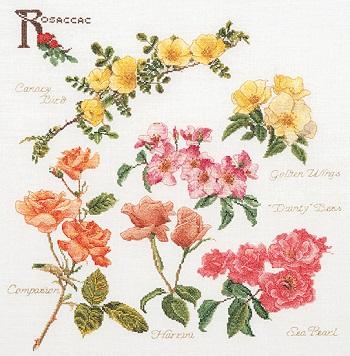 Thea Gouverneur GOK4066 Rose branches