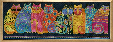 Design Works 3380 Feline Family Row
