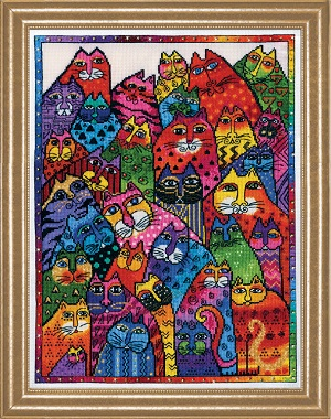 Design Works 3381 Cat Collage