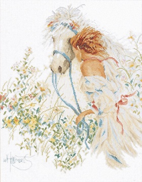 Lanarte PN 7952 Horse and Flowers
