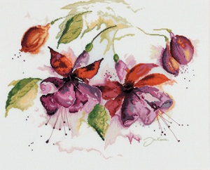 Lanarte PN 8026 Fuchsia in Watercolor