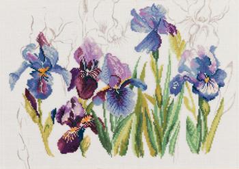 Lanarte PN 8027 Blue Flowers Iris