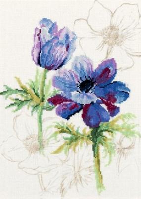 Lanarte PN8028 Blue Flowers Anemones