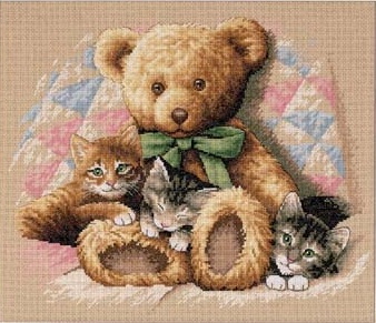 Dimensions 35236 Teddy and kittens
