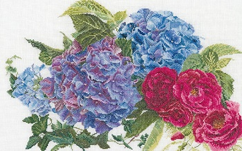 Thea Gouverneur GOK442 Hydrangea and Rose