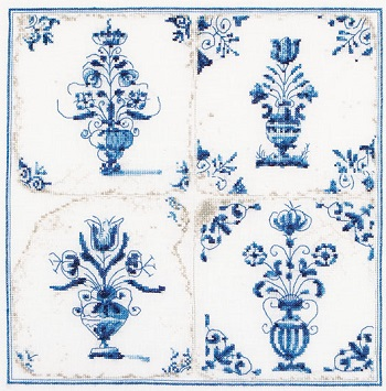 Thea Gouverneur GOK483 Antique tiles-Flower vases