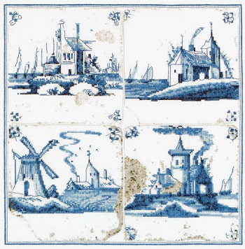 Thea Gouverneur GOK484  Antique tiles-Villages