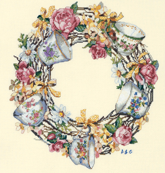 Candamar 51234 Teacup wreath