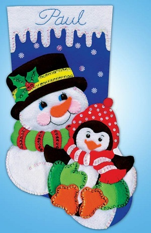 Design Works 5236 Snowman and penguin