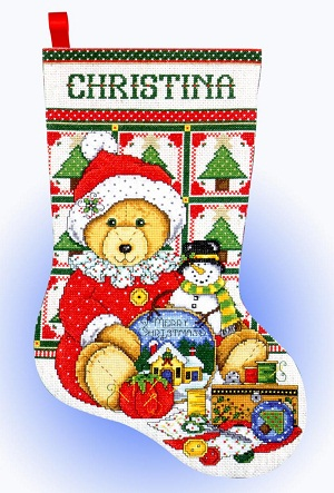Design Works 5485 Teddy bear Santa