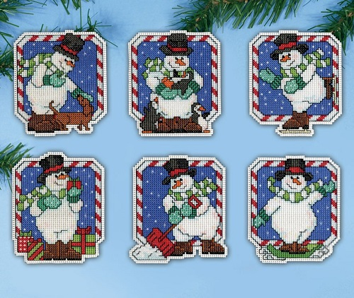 Design Works 5912 Candy Cane snowmen