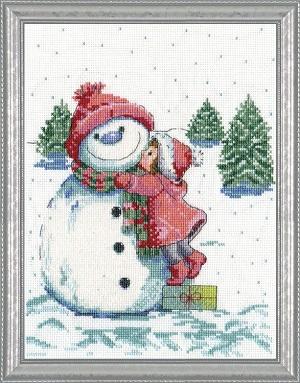 Design Works 5913 Red hat Snowman