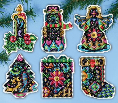 Design Works 5914 Christmas Fantasy ornaments