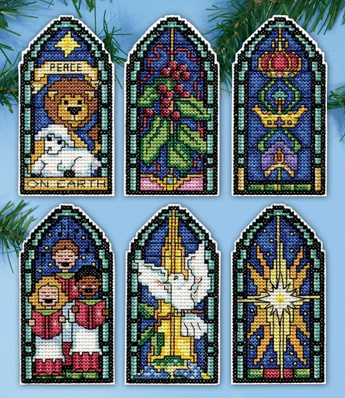 Design Works 5915 Peace on Earth Stained glass