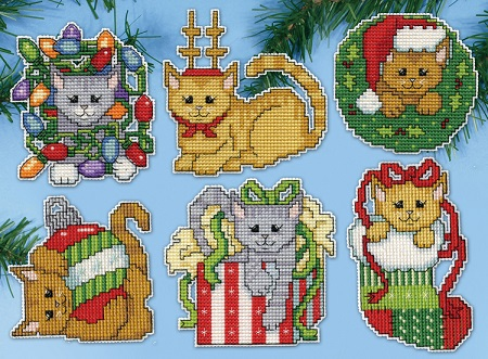 Design Works 5917 Christmas Kittens
