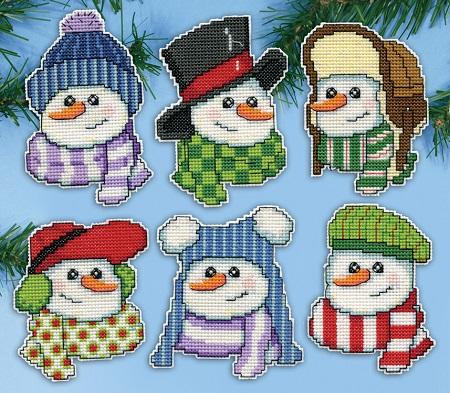 Design Works 5919 Snowmen in hats