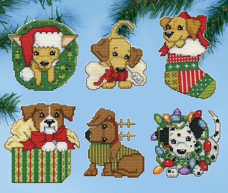 Design Works 5920 Christmas Pups