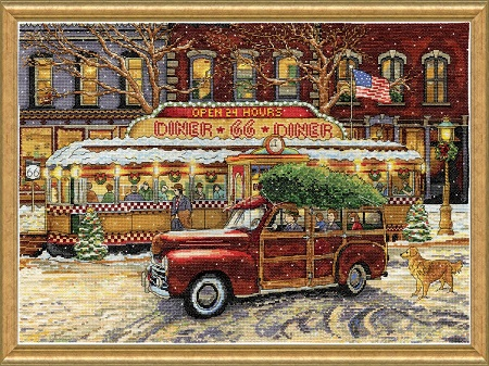 Design Works 5926 Route 66 Christmas Diner