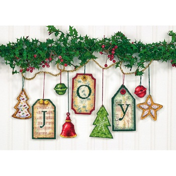 Dimensions 08849 Joy Tag Ornaments