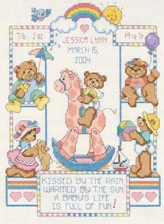 Dimensions 72818 Bear Buddies Birth Record