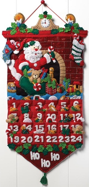 Bucilla 86312 Must be Santa advent calendar