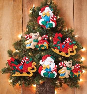 Bucilla 86361 Santa and his sleigh
