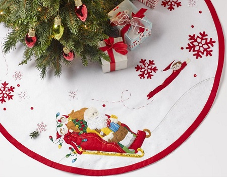 Bucilla 86582 Santa & Scout Elf Tree Skirt