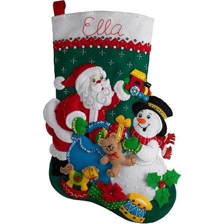 Bucilla 86658 Santa and Snowman