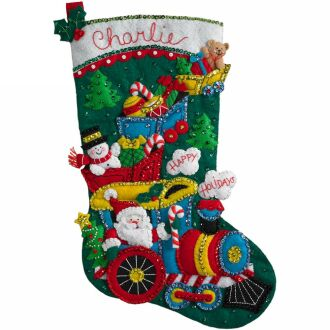 Bucilla 86708 Choo choo Santa stocking