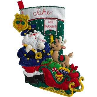Bucilla 86711 officer santa stocking