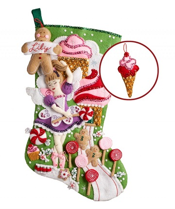 Bucilla 86714 Sugarland Fairy stocking