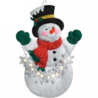 Bucilla 86820 snowflake snowman panno