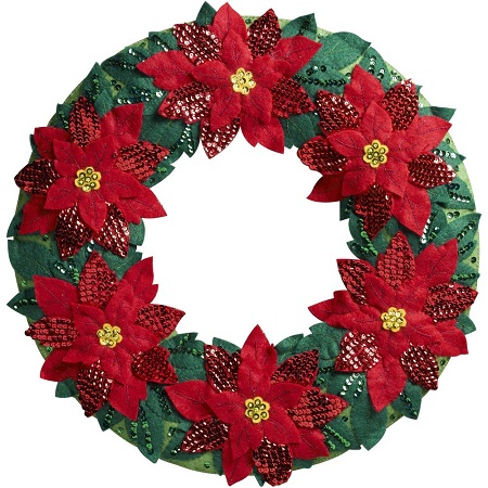 Bucilla 86827 Poinsettia wreath
