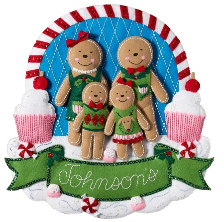 Bucilla 86835 Gingerbread family