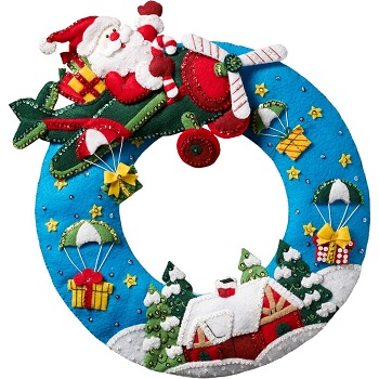 Bucilla 86838 Airplane Santa
