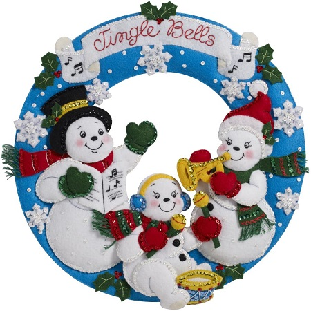 Bucilla 86910 Snowman Family Band