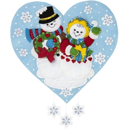 Bucilla 86917 Snowman Love