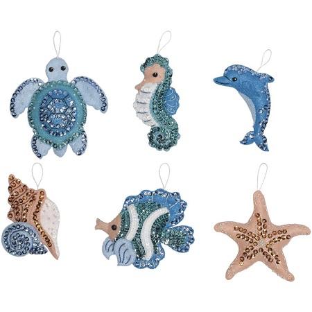 Bucilla 86958 Under the Sea ornaments