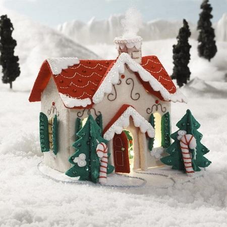 Bucilla 86960 3D Christmas Village House W/ Lights