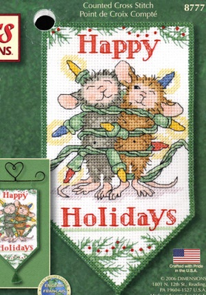 Dimensions 08777 Happy holidays banner